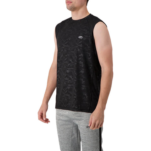 RAWLINGS MEN'S MUSCLE TOP BLACK