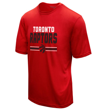 LEVELWEAR MEN'S TORONTO RAPTORS SHORTSIDE SHORT SLEEVE TOP RED