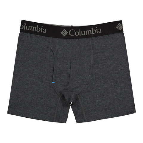 COLUMBIA MEN'S 3 PACK RECYCLED POLYESTER UNDERWEAR RED/GREY/BLACK