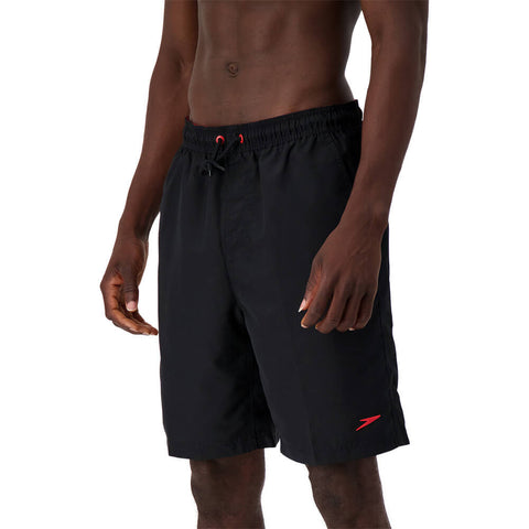 SPEEDO MEN'S VOLLEY 20'' SWIM TRUNKS BLACK