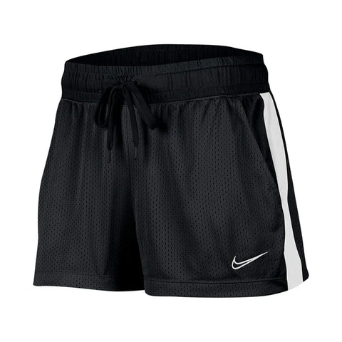 NIKE WOMEN'S NSW MESH SHORT BLACK/WHITE/WHITE