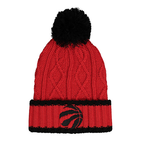 OUTERSTUFF GIRLS TORONTO RAPTORS TEAM STRIPE CABLE CUFFED KNIT HAT