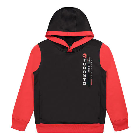 OUTERSTUFF YOUTH TORONTO RAPTORS REBOUNDING OUTSTANDING HOODY BLACK/RED