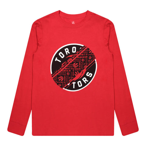 OUTERSTUFF YOUTH TORONTO RAPTORS SWERVE IT UP LONG SLEEVE TOP RED
