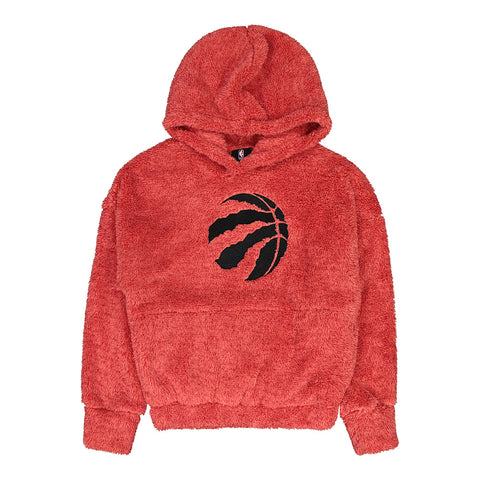 OUTERSTUFF YOUTH GIRLS TORONTO RAPTORS INFLUENTIAL SHERPA PULLOVER HOODY RED