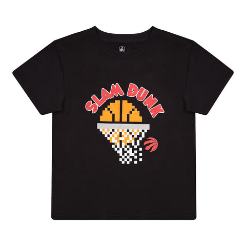 OUTERSTUFF 4-7 TORONTO RAPTORS PIXEL DUNK SHORT SLEEVE TOP BLACK