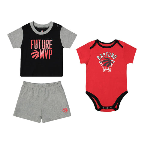 OUTERSTUFF INFANT TORONTO RAPTORS PUTTING UP NUMBERS 3 PIECE SET