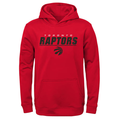 OUTERSTUFF YOUTH TORONTO RAPTORS STATIC POLY PERFORMANCE HOODY RED