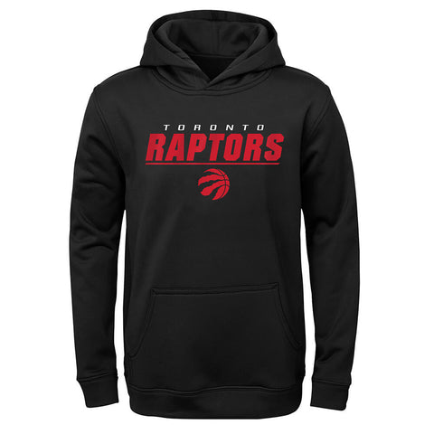 OUTERSTUFF YOUTH TORONTO RAPTORS STATIC POLY PERFORMANCE HOODY BLACK