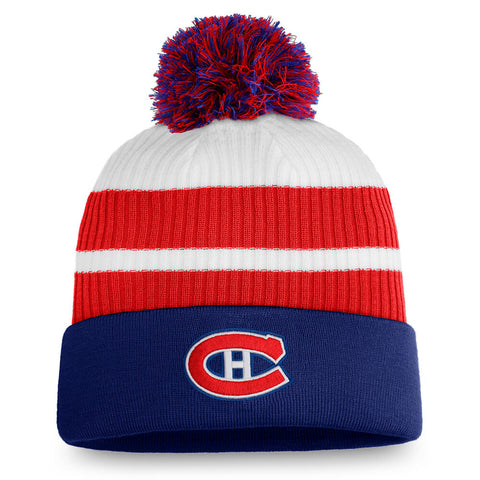 FANATICS MEN'S MONTREAL CANADIENS SPECIAL EDITION CUFF BEANIE WITH POM
