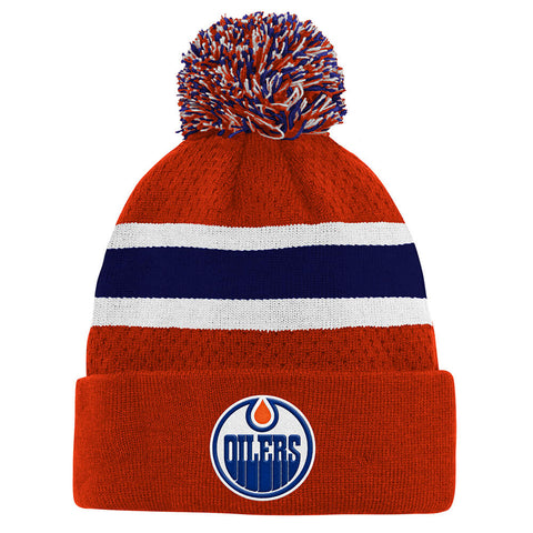 OUTERSTUFF YOUTH EDMONTON OILERS SPECIAL EDITION BIRDSEYE KNIT HAT WITH POM