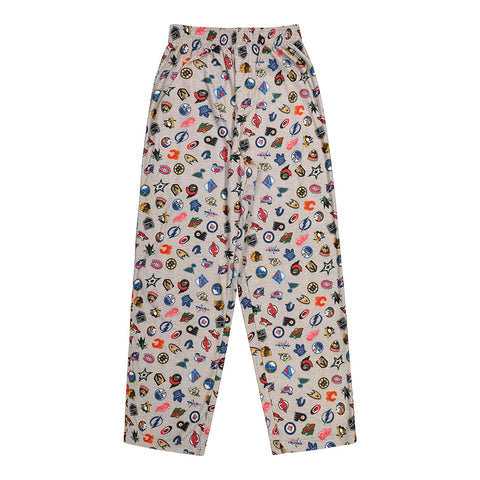 OUTERSTUFF YOUTH NHL ALL TEAM LOGO PRINT SLEEP PANT