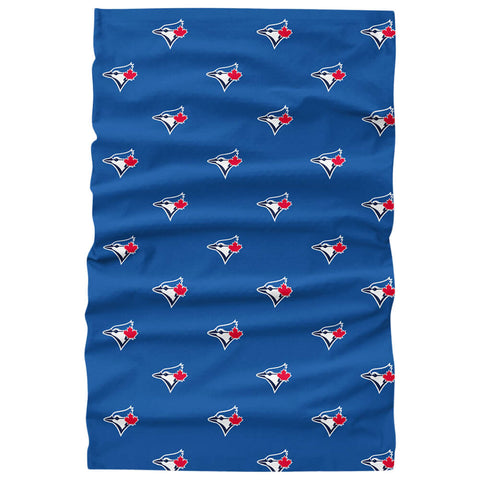 FOREVER COLLECTIBLES TORONTO BLUE JAYS MINI PRINT LOGO GAITER SCARF