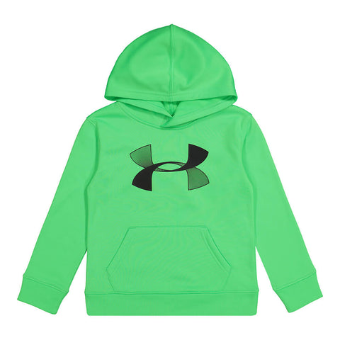 UNDER ARMOUR BOYS 4-7 UA HOODIE LASER GREEN