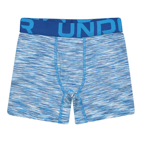 UNDER ARMOUR B YTH UA 2 PK TWIST BOXER SET ELECTRIC BLUE/ BLUE