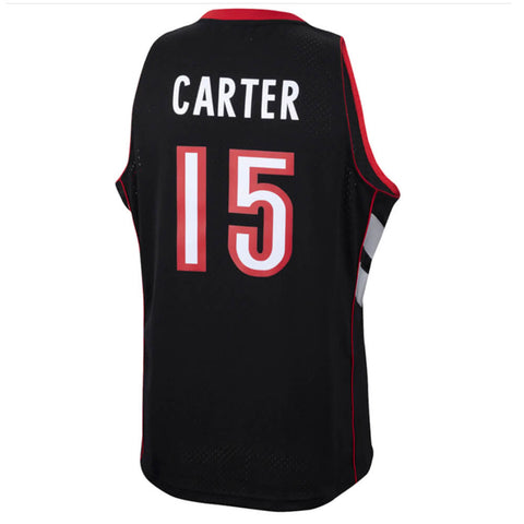 MITCHELL & NESS MEN'S RAPTORS SWINGMAN JERSEY CARTER PURPLE/BLACK