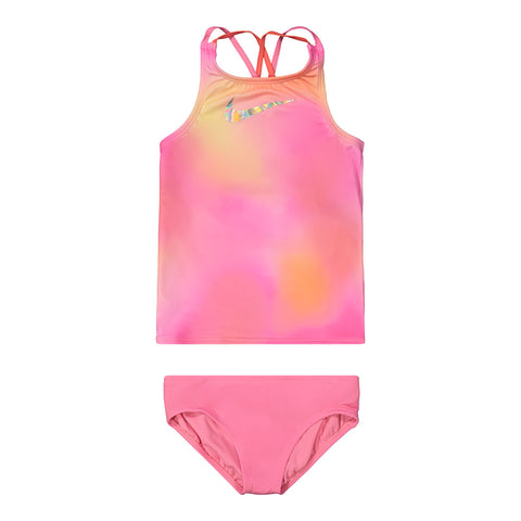 NIKE GIRL'S SPECTRUM SPIDERBACK TANKINI SET LOTUS PINK