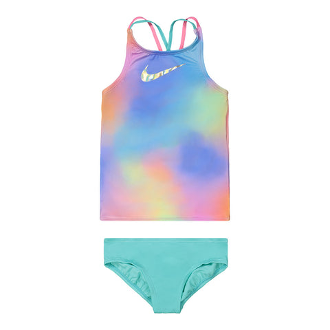 NIKE GIRL'S SPECTRUM SPIDERBACK TANKINI SET MULTI