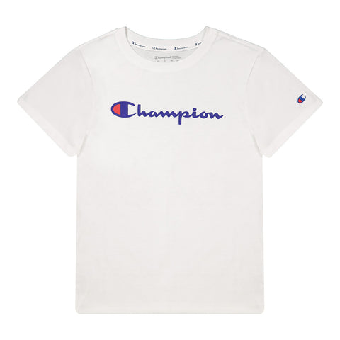 CHAMPION WOMEN'S CHAMPION SCRIPT SHORT SLEEVE WHITE