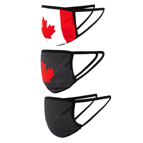 FOREVER COLLECTIBLES CANADIANA FCV GENERIC FACE MASK (NON-MEDICAL) 3 PACK