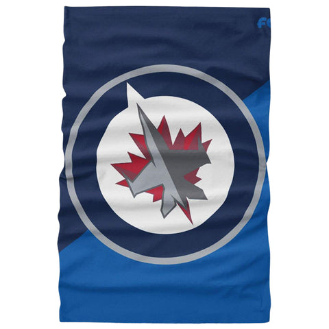 FOREVER COLLECTIBLES WINNIPEG JETS BIG LOGO GAITER SCARF