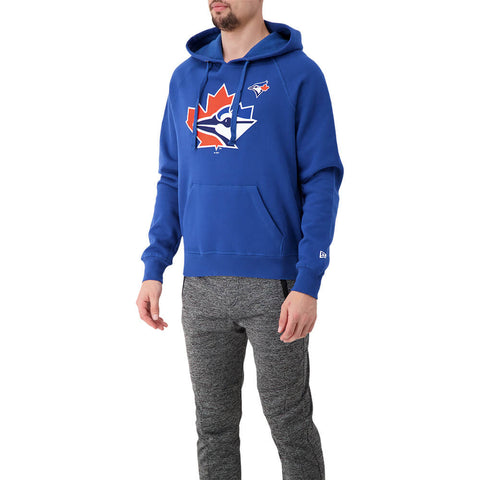NEW ERA MEN'S TORONTO BLUE JAYS SPEED FLEECE PULLOVER HOODY BLUE