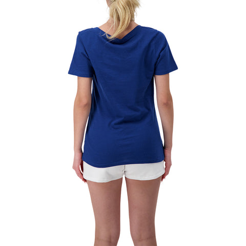 NEW ERA WOMEN'S TORONTO BLUE JAYS SPEED JERSEY SHORT SLEEVE VNECK BABY BLUE