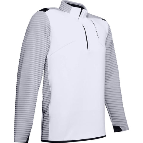 UNDER ARMOUR MEN'S STORM DAYTONA 1/2 ZIP TOP WHITE