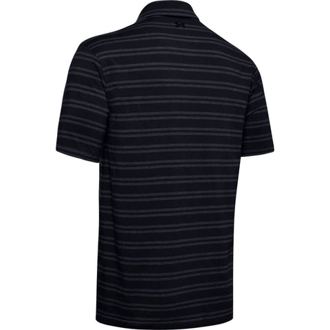 UNDER ARMOUR MEN'S CHARGED COTTON SCRAMBLE STRIPE POLO BLACK