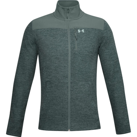 UNDER ARMOUR MEN'S SPECIALIST FULL ZIP GRID TOP BLUE