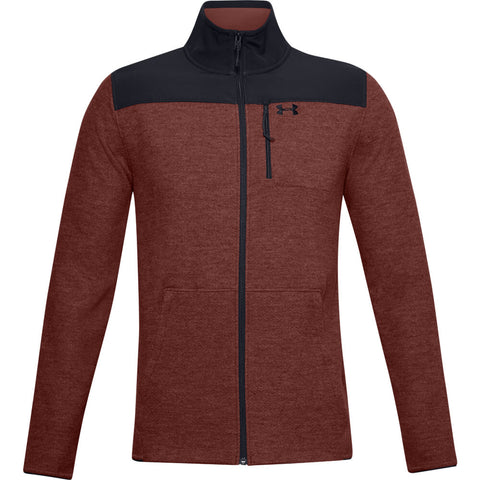UNDER ARMOUR MEN'S SPECIALIST FULL ZIP GRID TOP RED