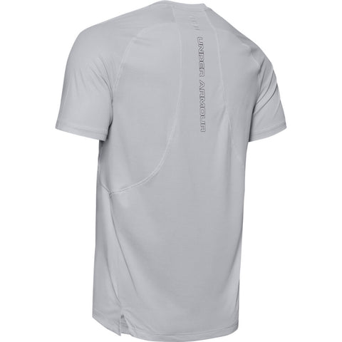 UNDER ARMOUR MEN'S QUALIFIER ISO-CHILL SHORT SLEEVE TOP GREY