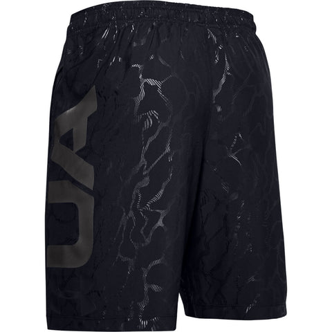 UNDER ARMOUR MEN'S WOVEN GRAPHIC EMBOSS SHORTS BLACK