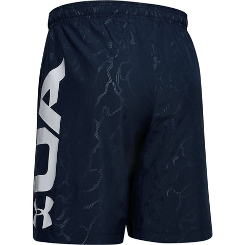 UNDER ARMOUR MEN'S WOVEN GRAPHIC EMBOSS SHORTS NAVY