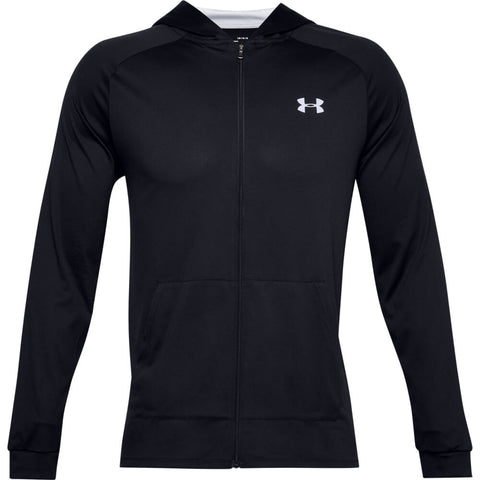 UNDER ARMOUR MEN'S TECH 2.0 FULL ZIP HOODY BLACK