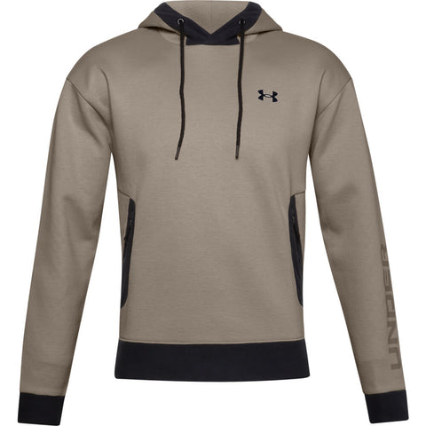 UNDER ARMOUR MEN'S RECOVER FLEECE HOODY BROWN
