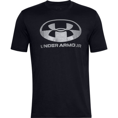 UNDER ARMOUR MEN'S LOCKER TAG WORDMARK SHORT SLEEVE TOP BLACK