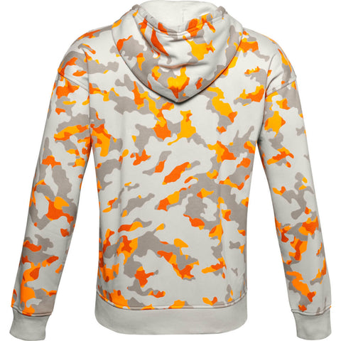UNDER ARMOUR MEN'S RIVAL FLEECE CAMO HOODY WHITE