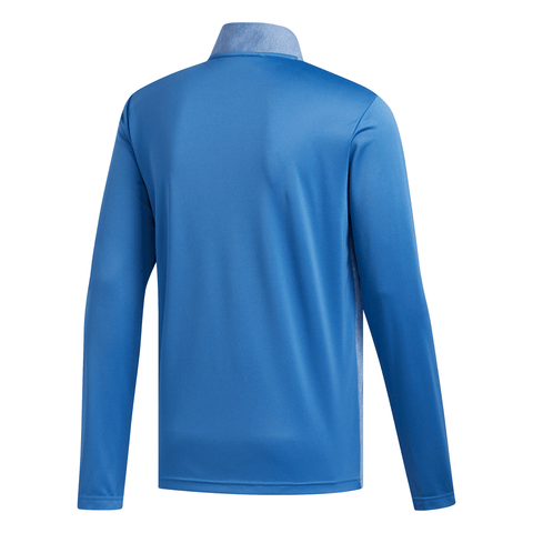 ADIDAS MEN'S LIGHTWEIGHT UPF LAYERING 1/4 ZIP LONG SLEEVE TOP TRACE ROYAL