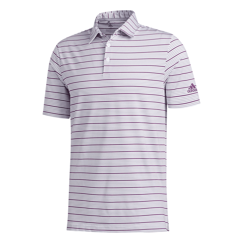 ADIDAS MEN'S ULTIMATE PENCIL STRIPE POLO WHITE