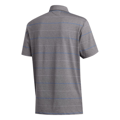 ADIDAS MEN'S ULTIMATE HEATHER STRIPE POLO GREY 3