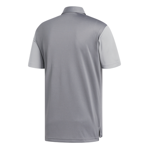 ADIDAS MEN'S COLOR BLOCK POLO GREY 5/GREY 3
