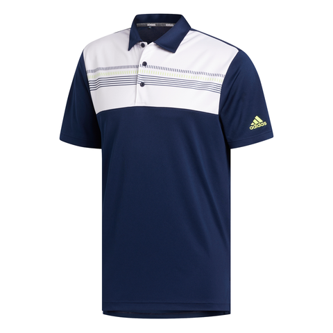ADIDAS MEN'S COLOR BLOCK POLO COLLEGIATE NAVY/WHITE