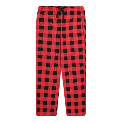 GREAT NORTHERN MEN'S JERSEY PANTS BUFFALO PLAID