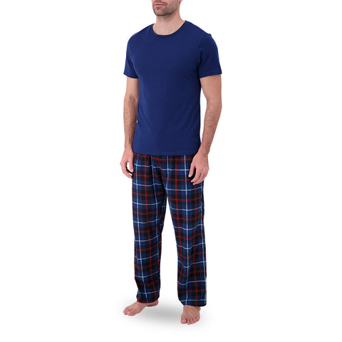 GREAT NORTHERN MEN'S FLANNEL LOUNGE SET BLUE