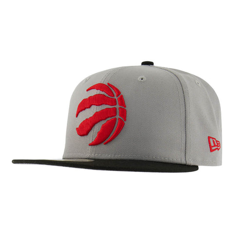 NEW ERA MEN'S TORONTO RAPTORS 5950 2 TONE GREY HAT OTC