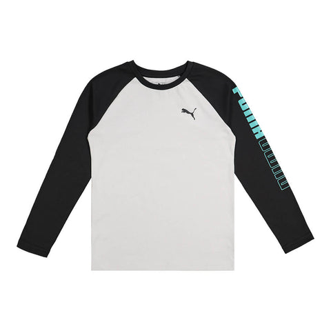 PUMA TODDLER UN-N-DOWN PACK LONG SLEEVE RAGLAN TEE  CHARCOAL HEATHER