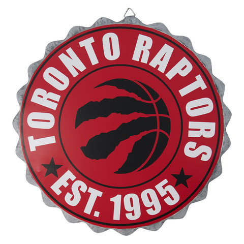 FOREVER COLLECTIBLES TORONTO RAPTORS BOTTLE CAP WALL LOGO 12.5''