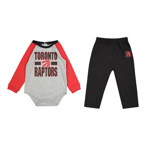 OUTERSTUFF INFANT TORONTO RAPTORS ALL NET LONG SLEEVE CREEPER & PANT SET