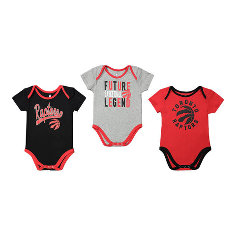 OUTERSTUFF INFANT TORONTO RAPTORS CHAMPION 3 PIECE CREEPER SET